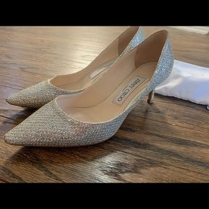 Jimmy Choo Romy champagne Pumps 60